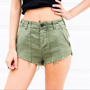 NWT Free People High Waisted Green Shorts